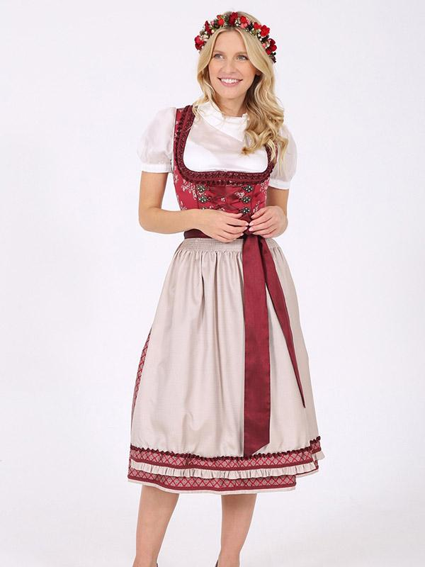 Dirndl Red Bandage Dress