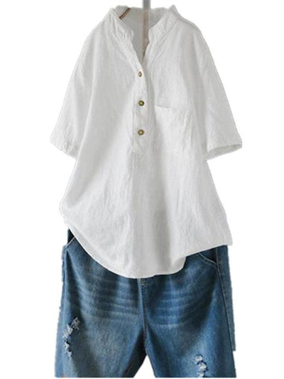 Cotton Collar Chinese Style Shirt