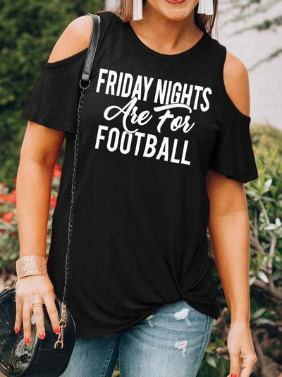 Friday Night Cold Shoulder T-Shirt