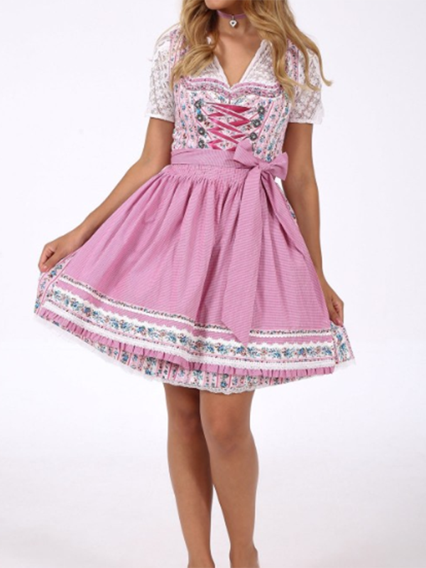 Romantic Pink Maid Dress