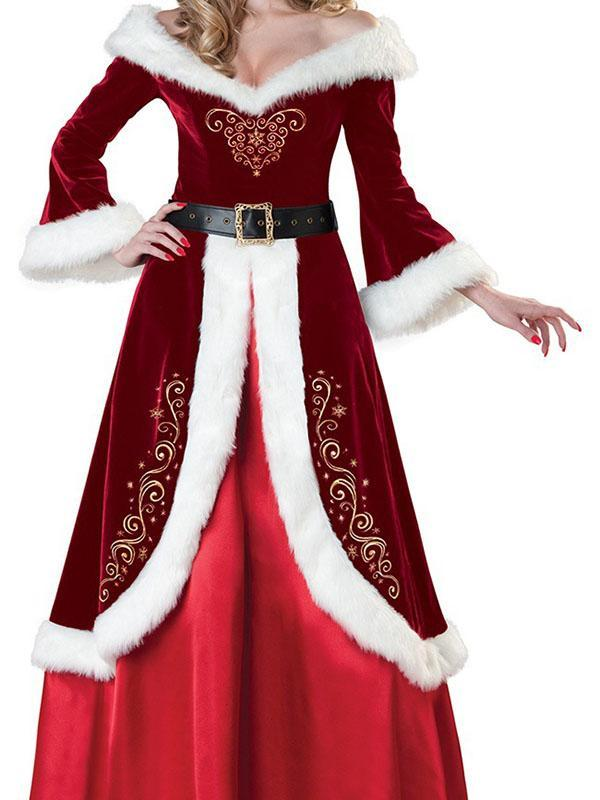 Men's Women's Large Size Christmas Ball Party Costumes
