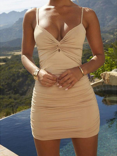 Free Shipping Ruched Bodycon Dress