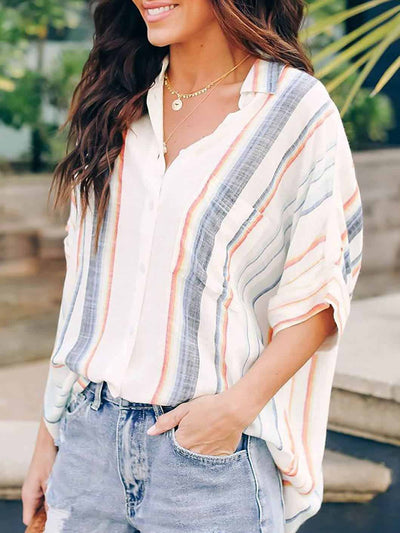 Striped Loose Shirt