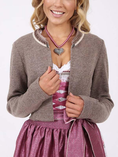 Lace-Neck Cardigan