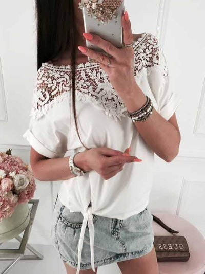 Lace Stitching Blouse