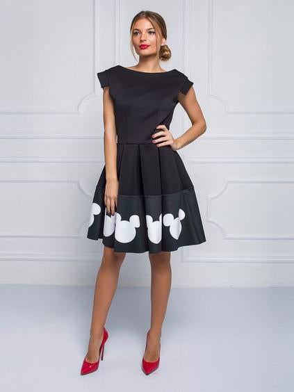Mickey printing sleeveless dress