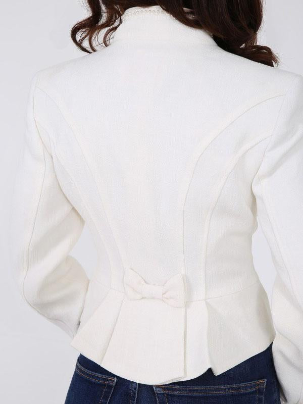 Elegant Pearl Button Jacket