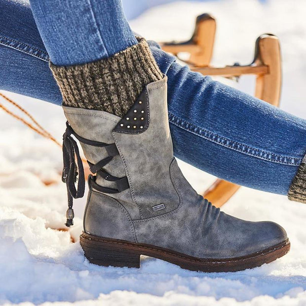 2019 Fashion Women's Winter Warm Lace Up Snow Boots