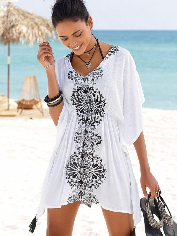Geometric Print Beach Dress