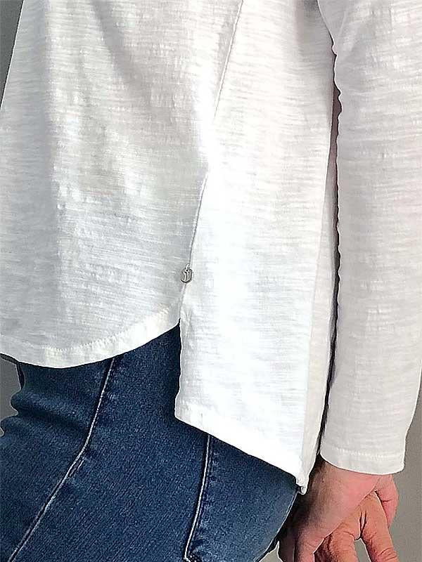 Pure White Detail Top