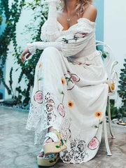 Norwegian Wood Embroidered Maxi Dress