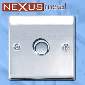 BG NPC81P Nexus Metal RJ45 1 Gang Dimmer Polished Chrome