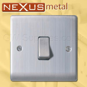 BG NBS12 Nexus Metal 1 Gang Switch Brushed Steel