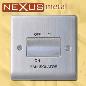 BG NBS15 Nexus Metal Fan Isolator Switch Brushed Steel