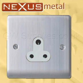 BG NBS29G Nexus Metal 5A Socket Outlet 1 Gang Brushed Steel