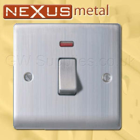 BG NBS31 Nexus Metal 20A DP Switch Brushed Steel