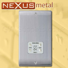 BG NBS20G Nexus Metal Shaver Socket Brushed Steel