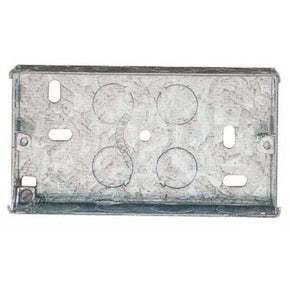625 2 Gang 35mm Standard Depth Flush Metal Wall Back Box.