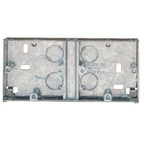 636 2 Gang 35mm Standard Depth DUAL Flush Wall Back Box.
