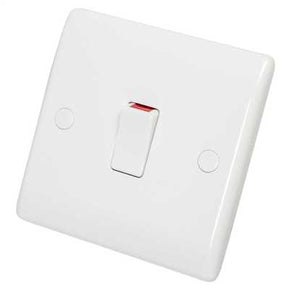 BG 832 Nexus White Moulded Double Pole Switch with Flex Outlet 20A