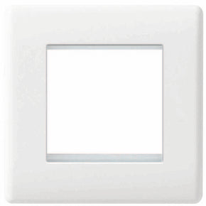 BG 8EMS2-01 Nexus  White Moulded 2 Module Euro Front Plate