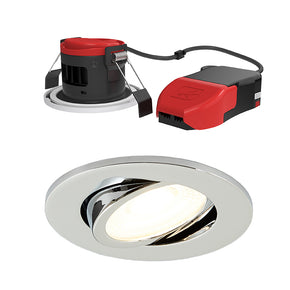 Ansell APRILEDP Prism Pro LED Fire Rated IP65 Gimbal Downlight