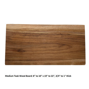 medium teak wood board