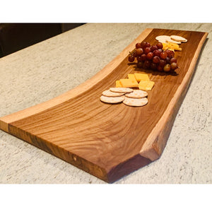 teak wood serving board 3 ft.