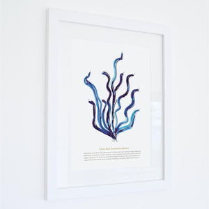 Forest Kelp Watercolour Print SeaKisses Wall Art