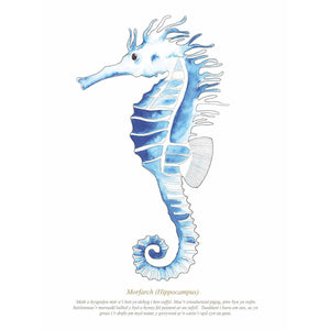 Seahorse Watercolour Print SeaKisses Wall Art