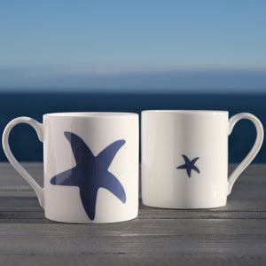Starfish Mug - Fine Bone China Coastal Design