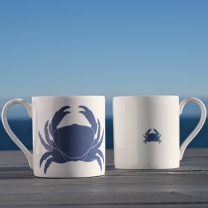Crab Mug - Fine Bone China Coastal Design