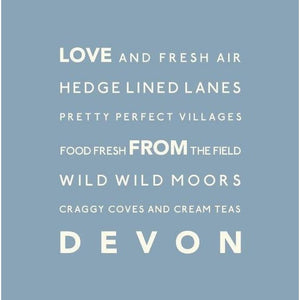 Love Devon Greeting Card