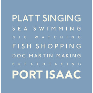 Port Isaac - Typographic Greeting Card by SeaKisses