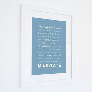 Margate Typographic Seaside Print - Coastal Wall Art /Poster