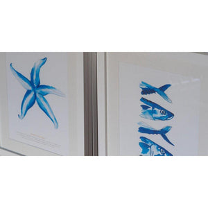 Starfish Watercolour Print SeaKisses Wall Art