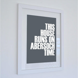 Abersoch Time Typographic Seaside Print - Coastal Wall Art /Poster