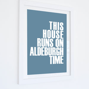 Aldeburgh Time Typographic Travel Print- Coastal Wall Art /Poster