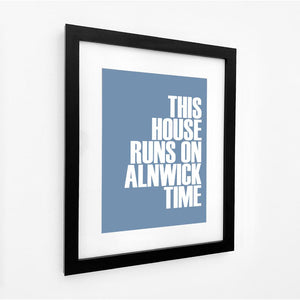 Alnwick Time Typographic Print- Coastal Wall Art /Poster
