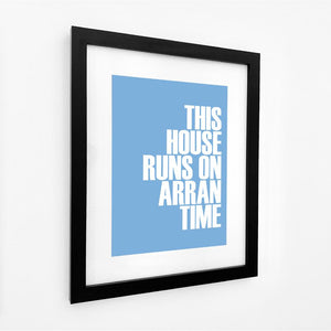 Arran Time Typographic Print- Coastal Wall Art /Poster
