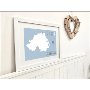 Ballintoy Nautical Map Print - Coastal Wall Art /Poster