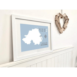 Bangor Nautical Map Print - Coastal Wall Art /Poster