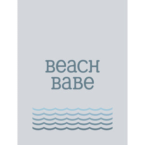 Beach Babe Typographic Seaside Print- Coastal Wall Art