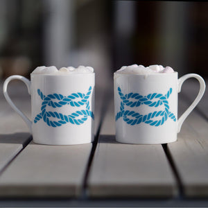 Rope Mug - Large Fine Bone China Coastal Design