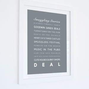Deal Typographic Seaside Print - Coastal Wall Art /Poster