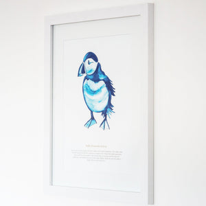 Puffin Watercolour Print SeaKisses Wall Art