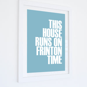 Frinton Time Typographic Travel Print- Coastal Wall Art /Poster