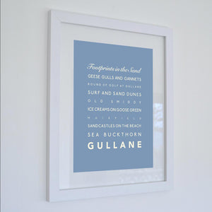 Gullane Typographic Travel Print/ Poster /Poster