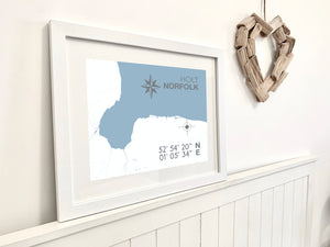 Holt Map Travel Print- Coastal Wall Art /Poster