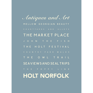 Holt Typographic Travel Print- Coastal Wall Art /Poster